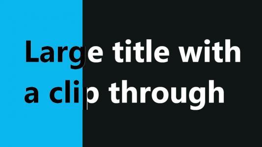 HTML网页布局样式代码设计制作文本样式随网页背景而不同展示效果