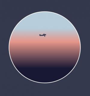 HTML动画设计代码CSS3和JavaScript绘制卡通蓝天飞机飞行场景效果