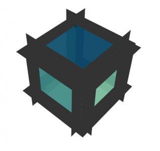CSS动画属性样式和HTML标签网页设计3D立体图形图像旋转动画效果