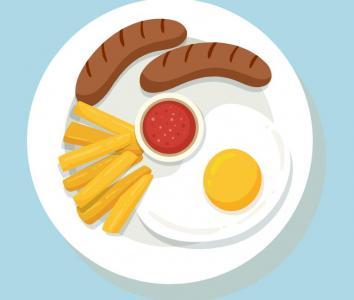 设计素材网站大全CSS3样式绘制丰盛的营养早餐样式效果网页素材阴影设计代码