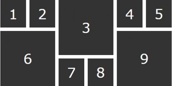 HTML网站布局设计代码CSS3样式制作数字方块网格排版样式效果