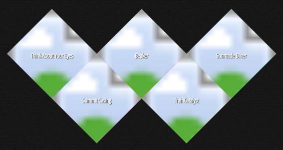 CSS3和HTML5代码设计网站九宫格网格全屏大气网站首页导航样式效果