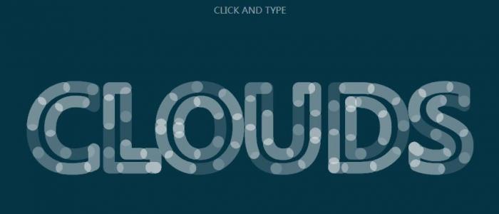 JS文字特效代码和CSS3文字属性绘制空心文字边框颜色动态滑动效果