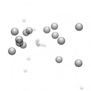JavaScript网站特效和CSS绘制3D粒子圆球不断向外喷射动画效果HTML网站动画设计效果