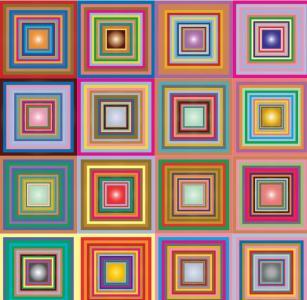 网页特效jQuery代码与HTML绘制不同色彩的正方形块纹理背景鼠标点击背景图像放大效果