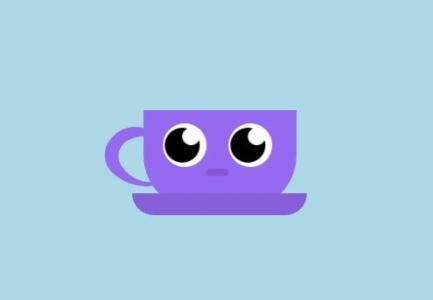 JavaScript网页特效大全CSS3样式表绘制可爱杯子头像眨眼动画效果