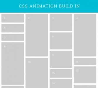 jQuery和HTML5排版设计带动画效果的网页图片瀑布流网站瀑布流布局样式代码