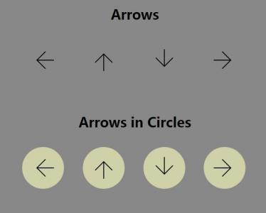网站icon图标素材免费下载纯CSS3样式表绘制设计icon箭头小图标