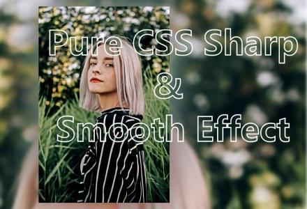 CSS3透明属性和HTML背景图片设计制作大气透明文字和模糊图像样式效果