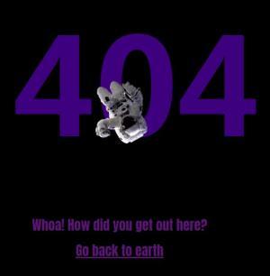 网站404网页静态页面设计JavaScript和CSS排版制作宇航员太空飞行404界面动画效果