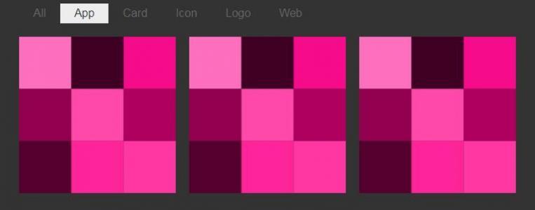 特效网页jQuery代码和CSS3设计制作九宫格小方块鼠标点击按钮小方块动态切换展示效果