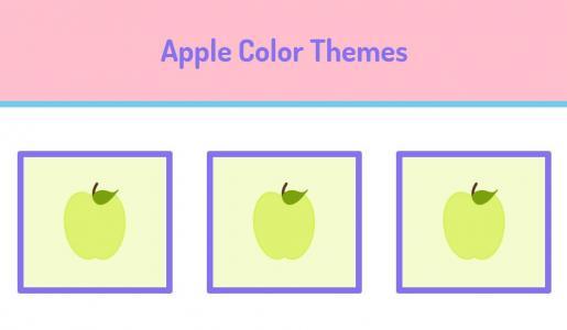 HTML卡通图像制作代码CSS3样式表绘制卡通苹果图像网页卡通图像素材大全