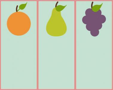 网页卡通素材样式制作代码HTML网站标签和CSS排版设计卡通水果图像样式效果