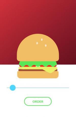 CSS动画属性和JavaScript特效代码绘制3D卡通汉堡鼠标拖拽滑块汉堡图像缩放效果