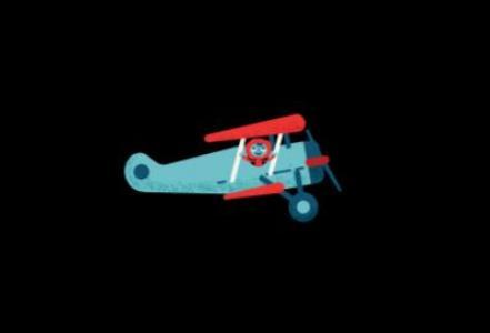 特效设计网站jQuery代码和网页动画CSS绘制卡通飞机飞行动画效果