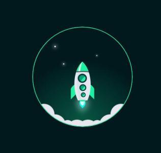 JS网页特效代码和动画属性CSS3绘制卡通圆形图像火箭发射场景动画效果
