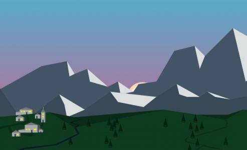 网站卡通动画设计代码jQuery和CSS设计制作乡间日出日落场景动画效果