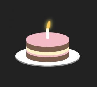 前端开发设计素材网站JS特效与CSS绘制逼真卡通生日蛋糕图像效果网站生日蛋糕制作代码