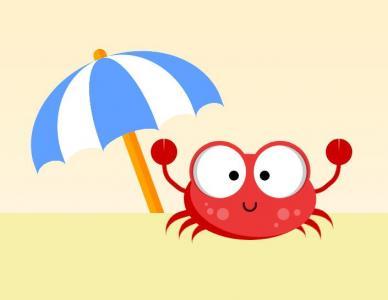 HTML网页素材网站卡通动画制作代码CSS3动画绘制螃蟹在沙滩上行走动画效果