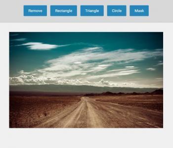 网页图片特效代码jQuery和CSS属性样式设计鼠标点击按钮实现图片以几何图形样式展示效果