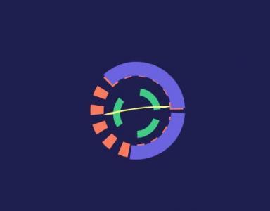 HTML标签网页设计代码与动画样式CSS3属性绘制炫酷色彩环形动态缩放展示效果