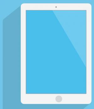 HTML网页素材设计与制作纯CSS3阴影属性样式绘制大气简洁平板电脑图像样式效果