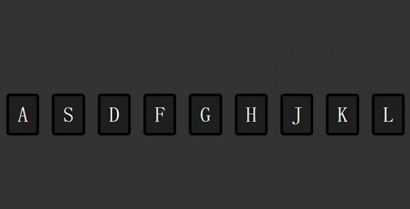 HTML标签网页布局CSS3样式表选择器代码绘制单元格字母样式效果网页素材设计与制作