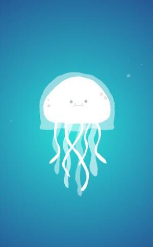 HTML动画设计大全JavaScript和CSS3属性绘制带渐变背景效果的水母图像动画效果