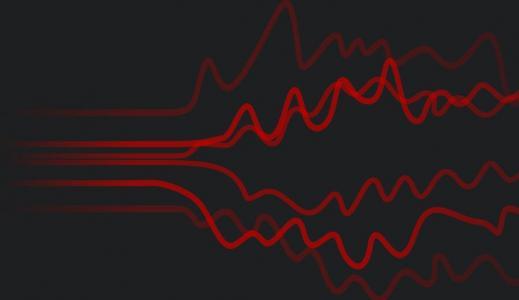 网站图像动画样式制作代码JS特效设计大气电波纹理图像动画效果