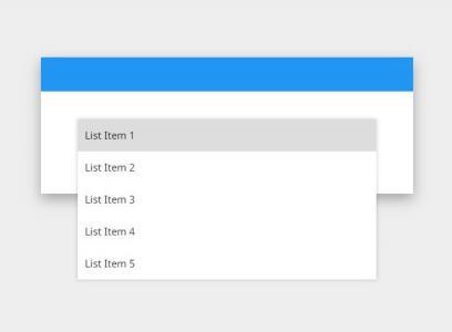 网页布局样式代码HTML和JS特效设计制作大气下拉菜单鼠标滑过展示效果