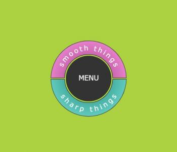 网站导航菜单设计代码HTML标签与CSS样式设计创意圆形导航菜单样式效果