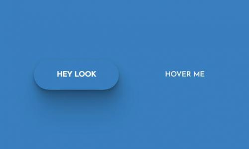 网页按钮UI设计与下载纯CSS样式表制作鼠标滑过3D效果圆角按钮