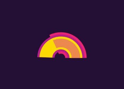 网站动画设计与制作纯CSS动画代码绘制SVG彩色扇形图像半圆展示动画效果