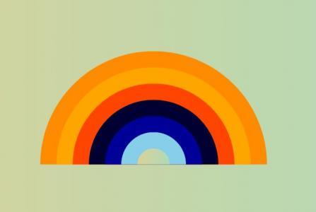 纯CSS3网页特效代码绘制彩色扇形半圆图像滑动展示样式效果