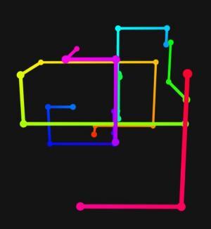 canvas网页特效绘制线性渐变节点绘制3D立体几何图形旋转动画代码
