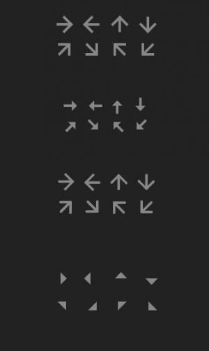 网页icon图标制作大全纯CSS3网页样式表绘制箭头icon小图标样式效果