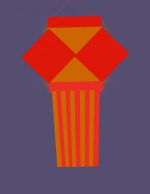 纯CSS3网页样式和HTML代码制作大气卡通灯笼红图像左右摇摆动画代码