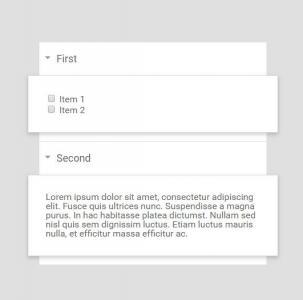 网站布局代码HTML标签与CSS3布局制作列表鼠标点击内容展开收缩效果