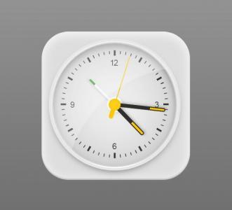 JS网页时钟代码和CSS样式选择器代码设计制作3D立体圆角时钟样式效果