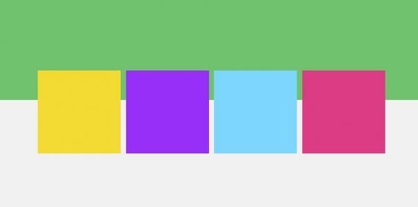 CSS3网页布局制作彩色正方形块JS鼠标点击全屏切换展示代码