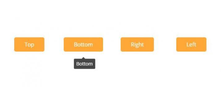 站长素材设计与下载HTML代码和纯CSS设计制作鼠标经过按钮感知方向信息框显示代码