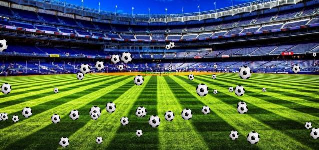 特效网页代码canvas画布绘制全屏大气足球场图像动画效果
