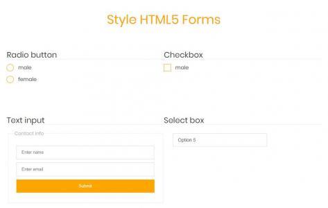 网站设计素材表单制作代码CSS3样式布局大气HTML5表单样式效果