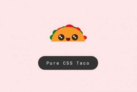纯CSS3网页制作代码绘制可爱眨眼卡通头像样式效果HTML设计素材下载