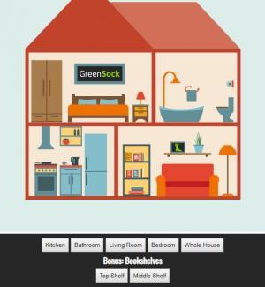 jQuery特效网页代码设计卡通房子鼠标点击按钮图像局部滑动放大显示效果