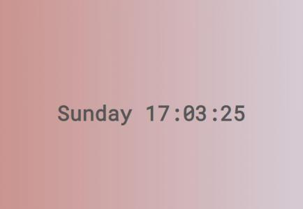 vue.js时间代码设计制作带渐变背景的网页数字时钟HTML网站时钟设计与下载