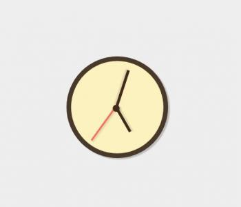 CSS3圆角属性样式和jQuery时钟代码绘制简单圆形挂钟HTML5网页挂钟样式绘制效果