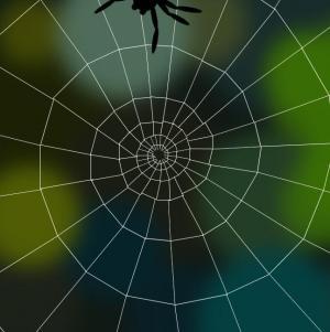 动画设计素材网站大全JS特效和CSS3绘制逼真蜘蛛织网场景动画效果