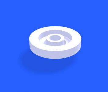 canvas网页特效设计制作白色3D空心环形圆图像上下嵌套加载动画代码
