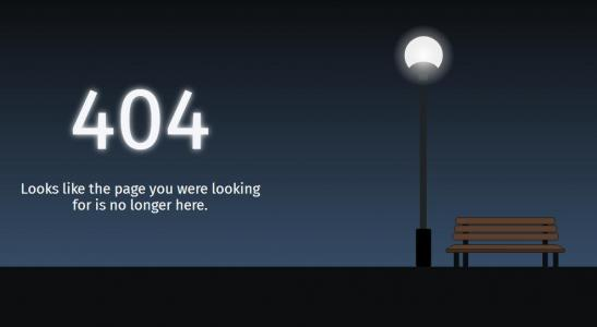 网站模板素材制作网站HTML布局代码设计夜间灯光下404网站静态页面